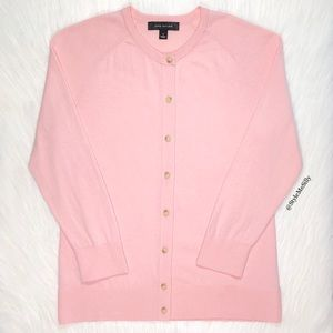 Ann Taylor light pink 3/4 sleeve cardigan sweater
